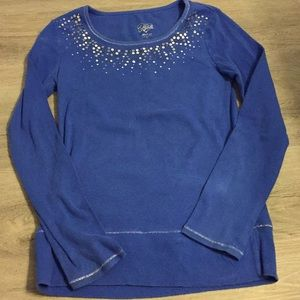 Justice size 14 sweater blue